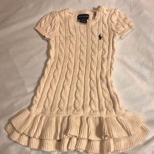 Ralph Lauren Girls 2T Sweater Dress EUC (K3)